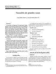 5. Vasculitis de grandes vasos - Revista Colombiana de Reumatología