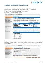 Freigeben von MobileTAN über eBanking - Volksbank Immenstadt eG