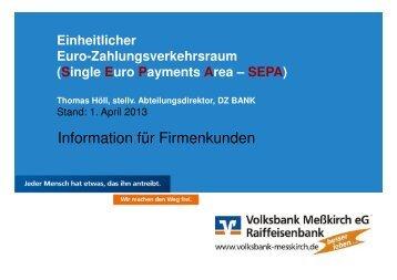 Präsentation der Veranstaltung für Firmenkunden - Volksbank ...