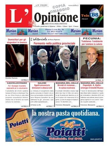 L'Opinione n°3 del 15-02-2012 - teleIBS