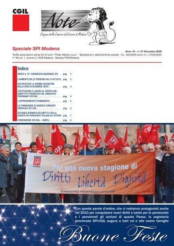NOTE_n°27 DIC 2009.indd - CGIL Modena