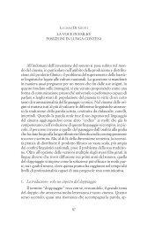 La voce in esilio: posizioni in lunga contesa - Provincia di Padova