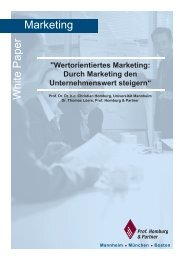 Marketing W hite P aper - Homburg & Partner