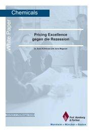 Pricing Excellence gegen die Rezession - Homburg & Partner