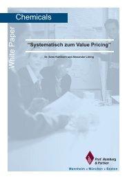 Systematisch zum Value Pricing - Homburg & Partner