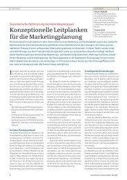Konzeptionelle Leitplanken für die ... - Homburg & Partner