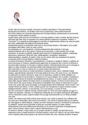 Download Profilo - Chirurgia Estetica Castello