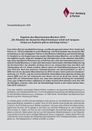 Ergebnisse des Maschinebau-Monitors 2010 - Homburg & Partner