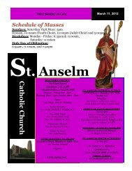 March 11, 2012 - Church of St. Anselm