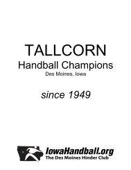 TALLCORN champions since 1949
