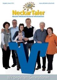 Wir begleiten Generationen - Volksbank Neckartal eG