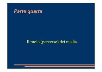 Presentazione - 4a parte (PDF 656 Kb) - Scuola di Specializzazione ...