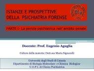 Psichiatria Forense - Università degli Studi di Catania