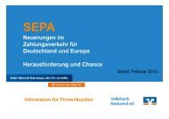 Präsentation zur Informationsveranstaltung - Volksbank Neckartal eG