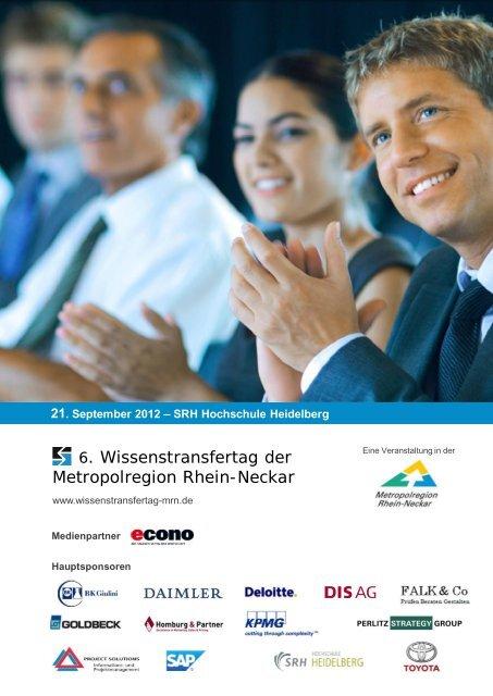 21. September 2012 – SRH Hochschule ... - Homburg & Partner