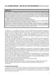 Articolo DE SARIO Il lavoro del fac.06 - Progetto CO.R.EM.
