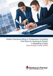 Hidden-Champions-Study in Professional ... - Homburg & Partner