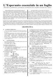L'Esperanto essenziale in un foglio - Circolo Esperantista Milanese ...