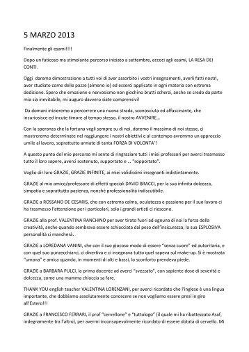5 MARZO 2013 - Accademia di Trucco Roma