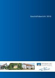 Geschäftsbericht 2010 - VR-Bank eG