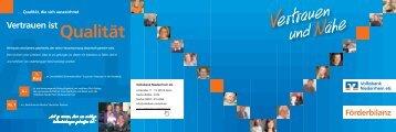zu unserer Förderbilanz - Volksbank Niederrhein eG