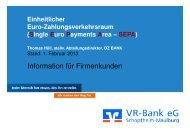 Präsentation aus Firmenkundenveranstaltung vom ... - VR-Bank eG