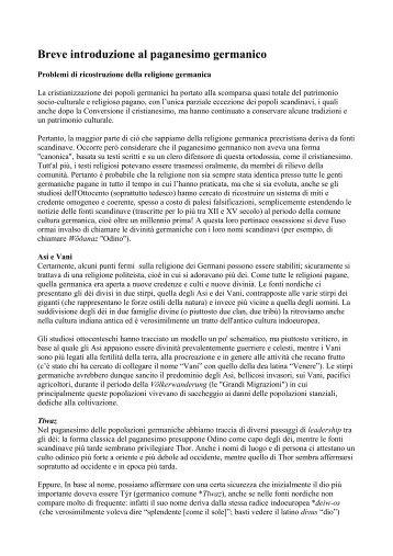 Breve introduzione al paganesimo germanico - Lingue e Letterature ...