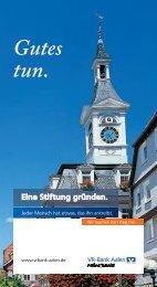 Ihrer Stiftung - VR-Bank Aalen eG
