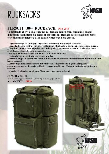 RUCKSACKS - team nash italia