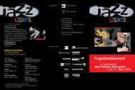 Programmübersicht - Jazz Lights