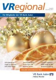 Ausgabe 4 - Dezember 2011 - VR-Bank Aalen eG