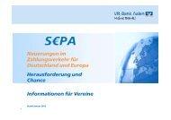 SEPA-Präsentation - VR-Bank Aalen eG