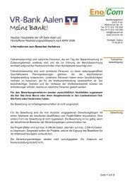 Neubau Hauptstelle der VR Bank Aalen eG Nichtoffener ...