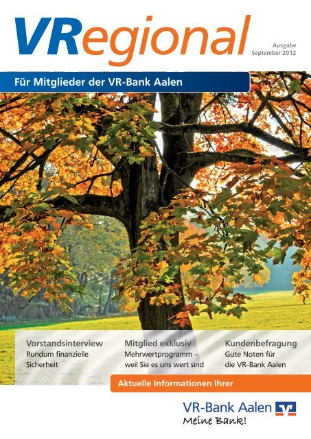 Ausgabe 6 - VR-Bank Aalen eG