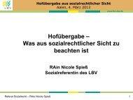 Hofübergabe – Was aus sozialrechtlicher Sicht zu beachten ist - VR ...
