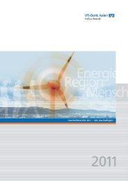 Geschäftsbericht 2011 der VR-Bank Aalen eG (PDF/3,1 MB)