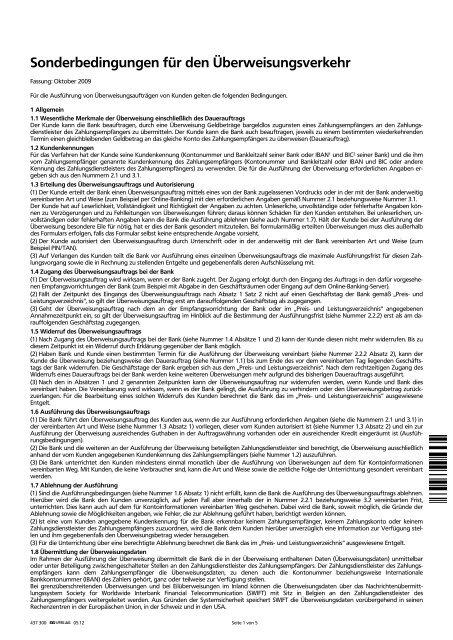 Überweisungsverkehr - VR-Bank Aalen eG