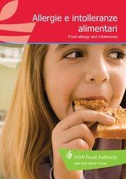 Brochure | Food allergies (Italian) - NSW Food Authority