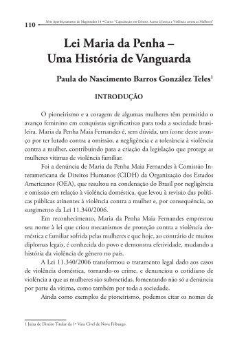 Lei Maria da Penha – Uma História de Vanguarda - Emerj
