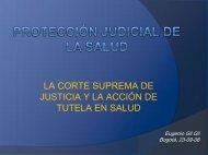 la corte suprema de justicia y la acción de tutela en salud - AP Legis