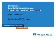 zu den Vortragsfolien (ca. 2,9 MB) - VR-Bank Alb eG