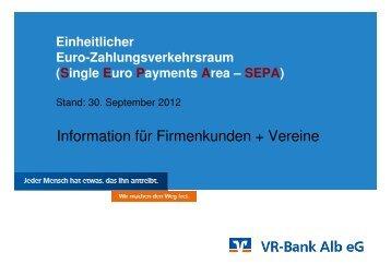 zu den Vortragsfolien (ca. 3,8 MB) - VR-Bank Alb eG