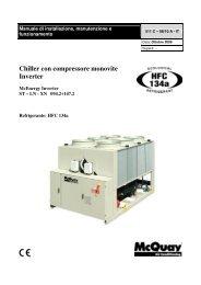 Chiller con compressore monovite Inverter - McQuay