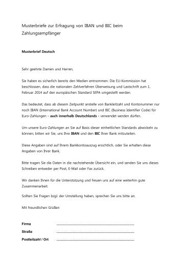 Musterbrief