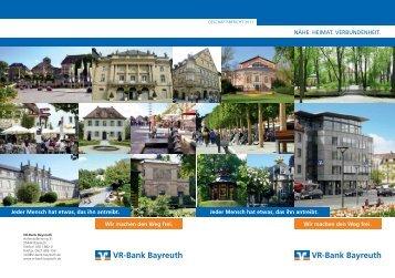 Geschäftsbericht 2011 - VR-Bank Bayreuth