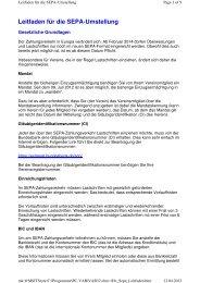 Programm PC VAB SEPA-Leitfaden - VR-Bank Bayreuth