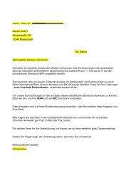 Musterbrief Anforderung IBAN BIC - VR-Bank Bayreuth