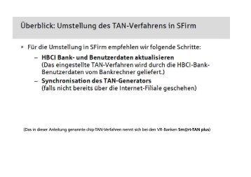 SFirm (Ab Version 2.4 mit Patchlevel 6 - VR-Bank Bayreuth