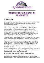 Condizioni Generali di trasporto - IBS di Matteo Pellegrini