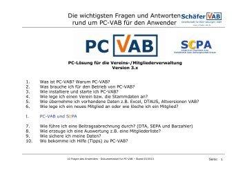 Programm PC VAB Fragen und Antworten - VR-Bank Bayreuth
